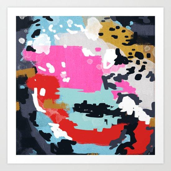 Charlotte - abstract minimal painting customized home decor original art by charlotte winter Art Print