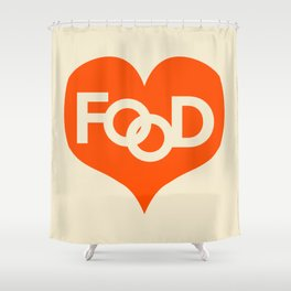 Food is My Love Shower Curtain