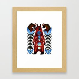 The Hand That Feeds You Framed Art Print
