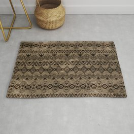 Ethnic Tribal  Pattern on canvas Rug