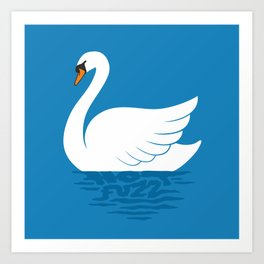 Just The One Swan Actually Art Print