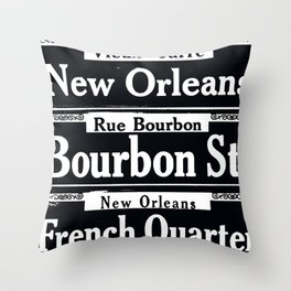 NEW ORLEANS FRENCH QUARTERS Throw Pillow