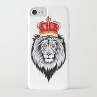 lion king iPhone & iPod Cases featuring Lion King by Libby Watkins Illustration