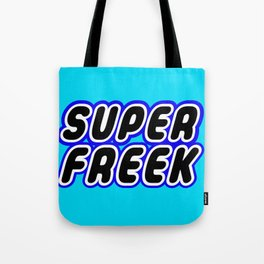 SUPER FREEK in Brick Font Logo Design [Alternate Colors] by Chillee Wilson Tote Bag