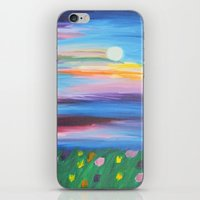 moonrise iPhone & iPod Skins featuring moonrise by Kesa