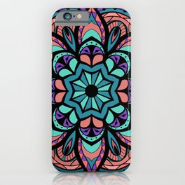 Mandala Pinks & Blues  #GraphicArt #SpiritualArt iPhone Case