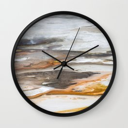 Yellowstone National Park - Thermophiles, Norris Geyser Basin Wall Clock