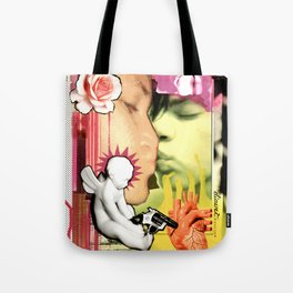 COLLAGE: The Kiss Tote Bag
