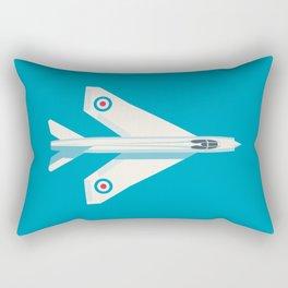 English Electric Lightning RAF Jet Fighter - Cyan Rectangular Pillow