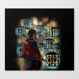 The Wastelands ghost lights Canvas Print