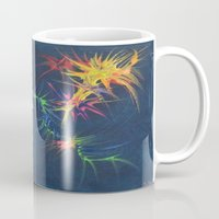 fireworks Mugs featuring fireworks by TLCGATOR