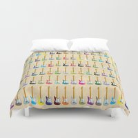 guitar Duvet Covers featuring Guitar by WyattDesign