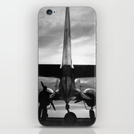Airplane at sunrise iPhone Skin