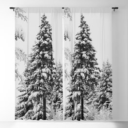 Winter Woods IV - Snow Capped Forest Adventure Nature Photography Blackout Curtain
