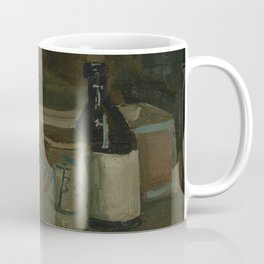Still Life with Bottles and Earthenware Coffee Mug