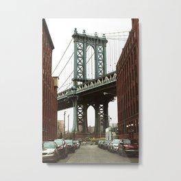 New York Streets, Streets, New York, Brooklyn Bridge Metal Print