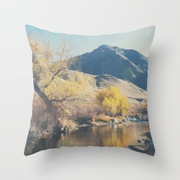 down by the river ... Throw Pillow