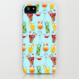 Summer vibes cocktails iPhone Case