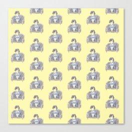 Sulky Sherlock - Yellow Canvas Print
