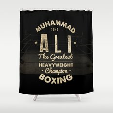 Boxing Ali Canvas Shower Curtain