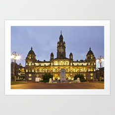 George Square City Chambers  Art Print