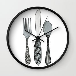 Fork Knife & Spoon Wall Clock