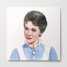 Mary Poppins - Watercolor #1 Metal Print