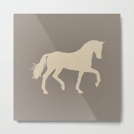 Horse 03 Grey Grays Silhouette Metal Print