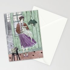 Girl with a sheep Stationery Cards