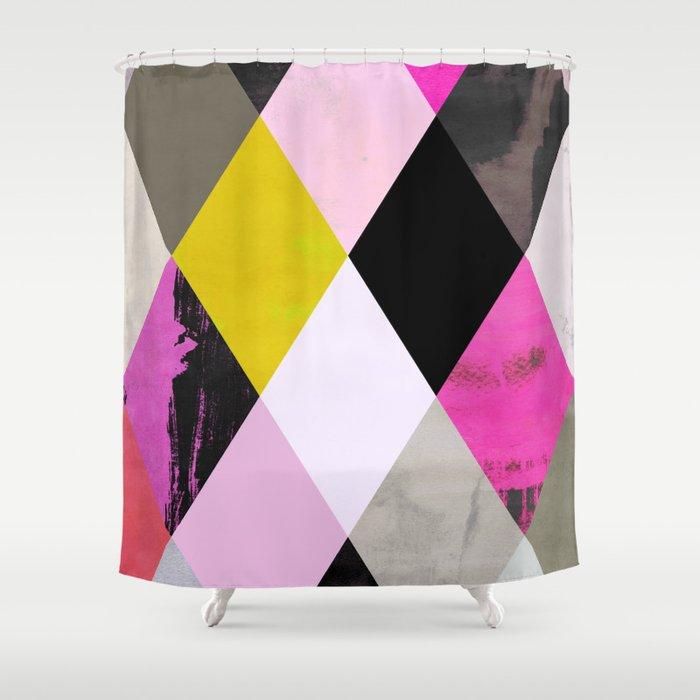 colour + pattern 15 Shower Curtain