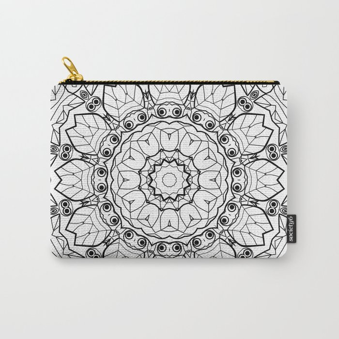 "Black and white pattern . ""Lola"" Notepad-cover-coloring . Carry-All Pouch"