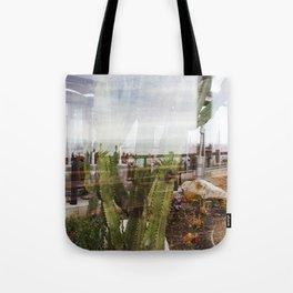 Cactus Ocean Abstraction Tote Bag