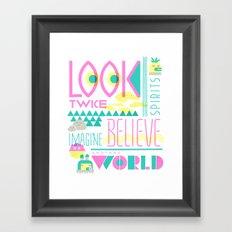 Look Twice Framed Art Print