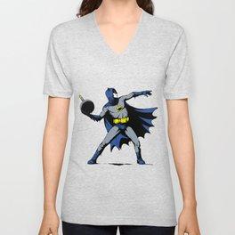 Bat Throwing Bomb Unisex V-Neck