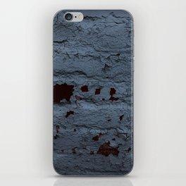 Textured Brick Blue iPhone Skin