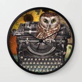 Office Owl Wall Clock