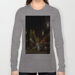 Arc de Triomphe and Champs Elysees Long Sleeve T-shirt