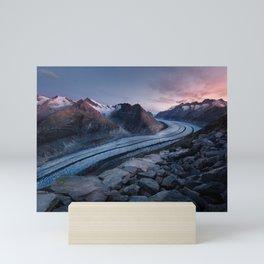 Sunrise On A Mountain Ridge Mini Art Print