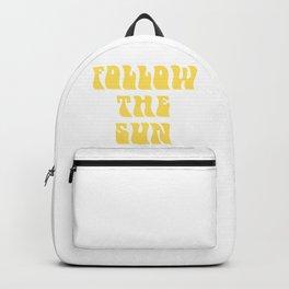 follow the sun - yellow Backpack