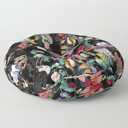 Floral and Birds IX Floor Pillow