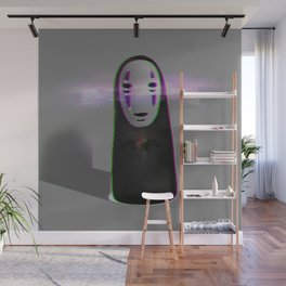 Glitched No Face Wall Mural