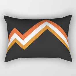 Athletic Retro Orange #kirovair #home #decor #retro #orange #gymwear #athletic #design Rectangular Pillow