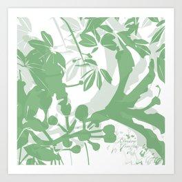 BC green silhouette Art Print