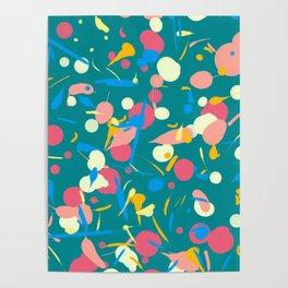 Paint splashes Poster