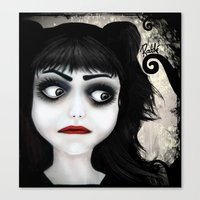eugenia loli Canvas Prints featuring Dear little doll series... EUGENIA by Rouble Rust
