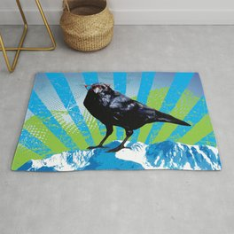 Raven on the Rise by Crow Creek Cool Rug