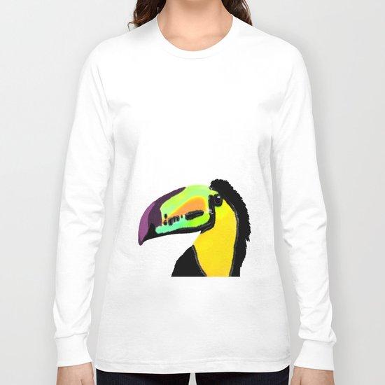 Toucan with colourful beak  Long Sleeve T-shirt