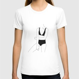 Woman in bikini line drawing - Alana T-shirt