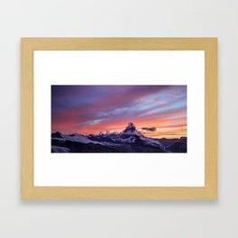 Himalayas Fishtail Mountain Sunset Framed Art Print