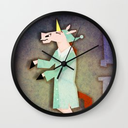 Sleep Walking Unicorn Wall Clock